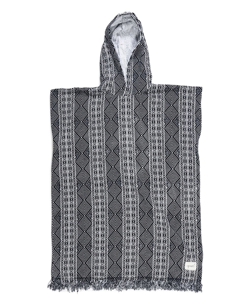 RipCurl - Black Sands Hooded Towel Black