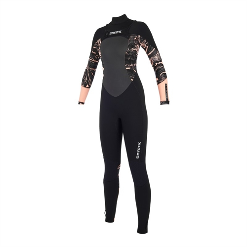 mystic_Diva_Fullsuit_53mm Double Fzip Women_black_pink_front